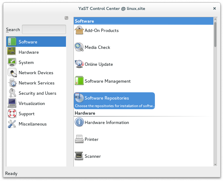 YaST Software Repositories